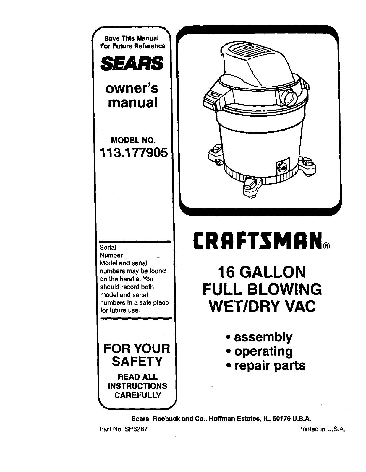 hight resolution of  craftsman wet dry shop vac wiring schematic on