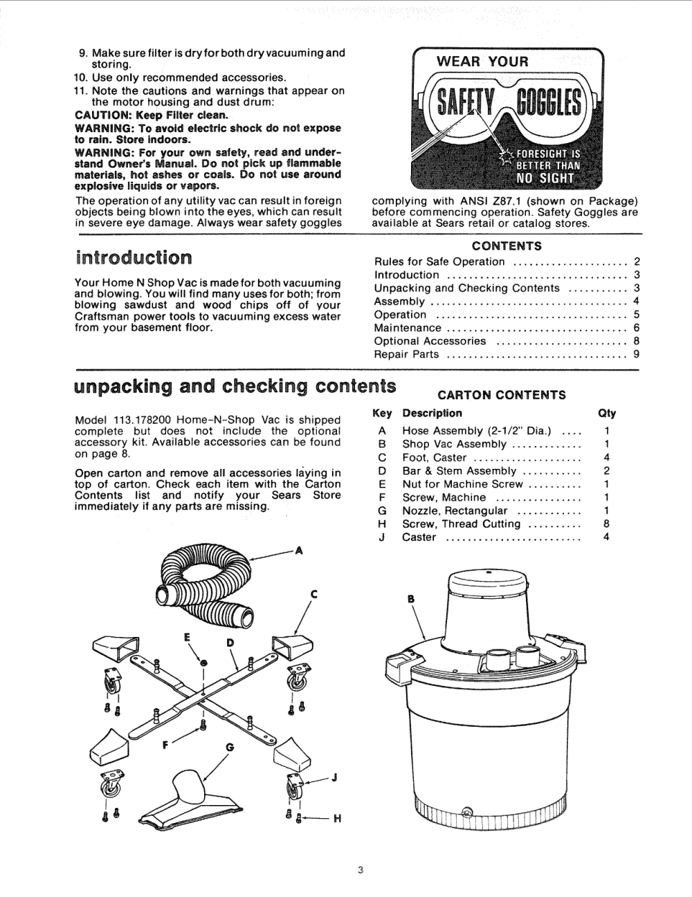 medium resolution of page 3 of 12 craftsman 113178200 user manual 16 gallon home n shop