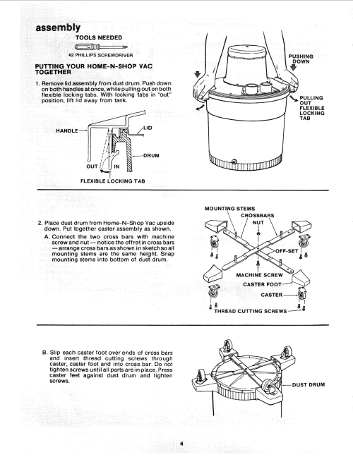 small resolution of page 4 of 12 craftsman 113178200 user manual 16 gallon home n shop