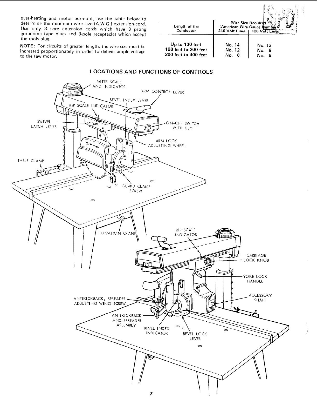 Craftsman 11319770 User Manual 10 INCH RADIAL SAW Manuals