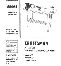 craftsman 113228162 user manual wood lathe manuals and guides l0803531 craftsman lathe wiring diagram [ 1248 x 1588 Pixel ]