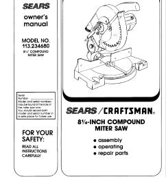 craftsman compound miter saw wiring diagram [ 1222 x 1582 Pixel ]