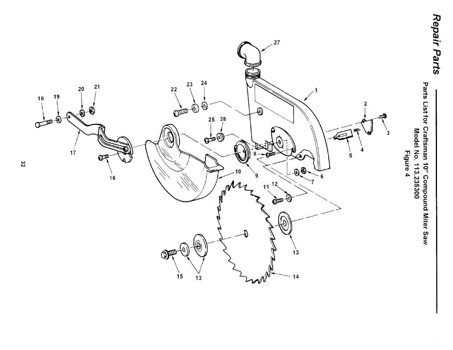 Craftsman 113235300 User Manual 10 COMPOUND MITRE SAW