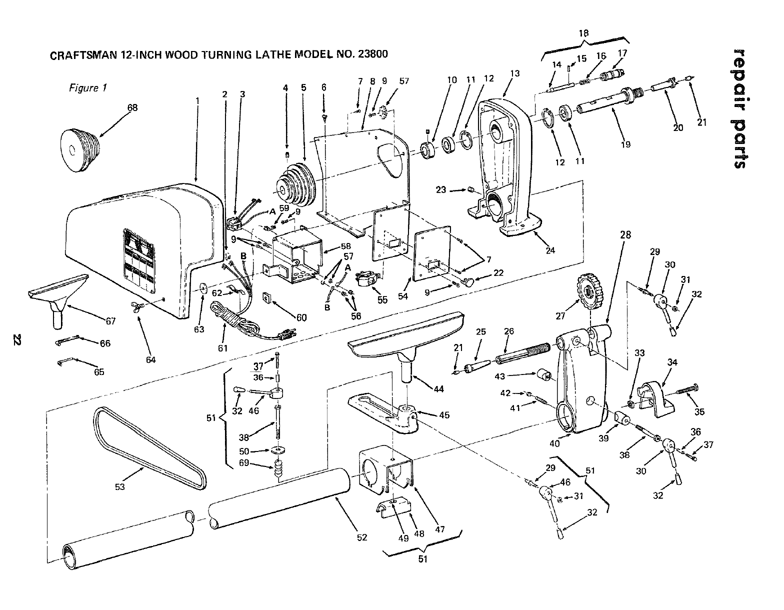Craftsman 11323800 User Manual 12 INCH WOOD TURNING LATHE