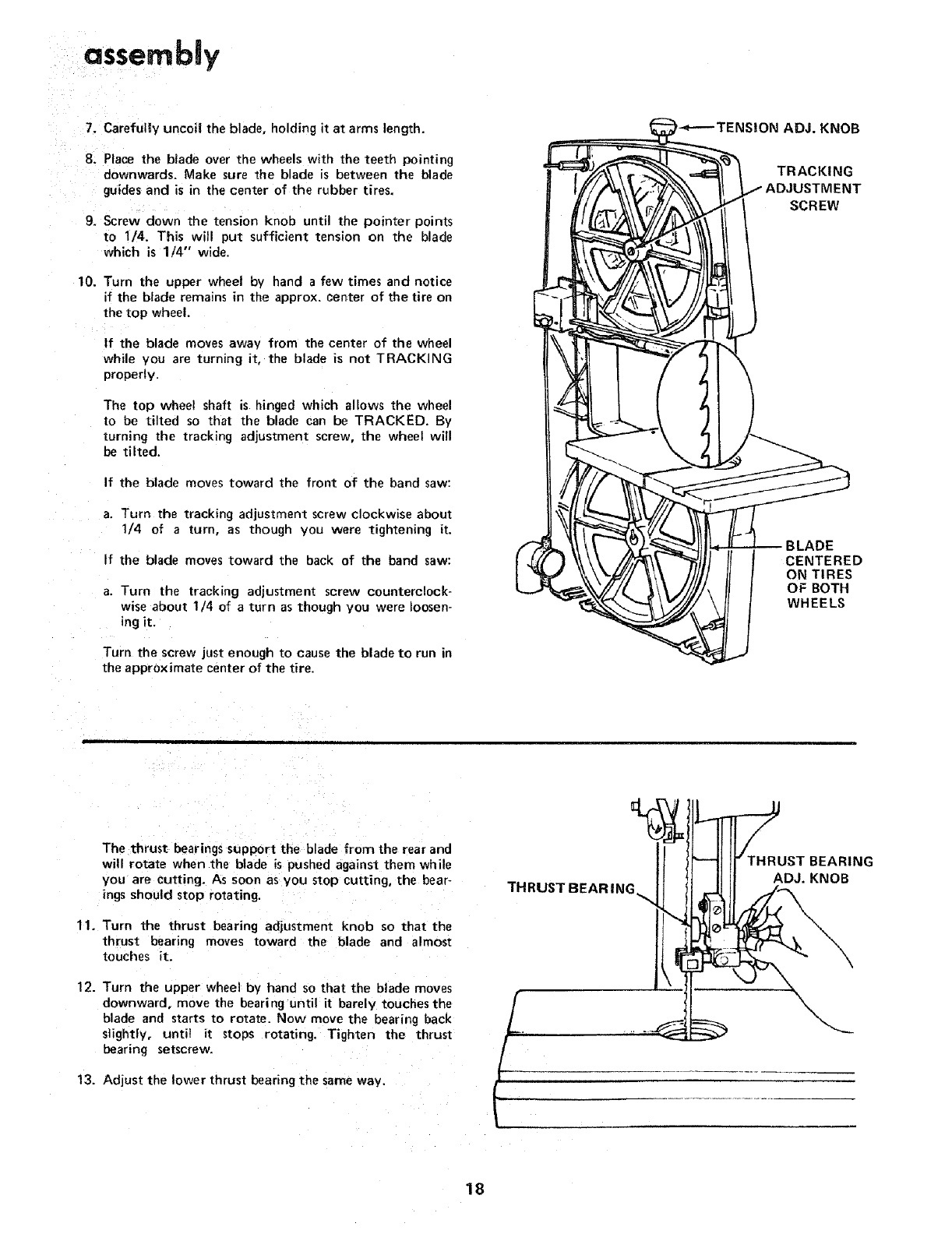 Craftsman 11324201 User Manual 12 INCH BAND SAW Manuals
