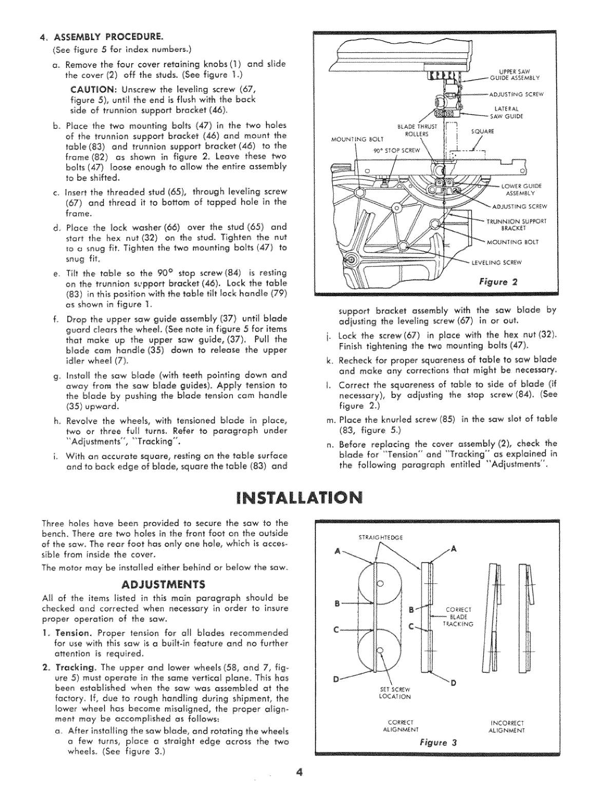 Craftsman 113242610 User Manual 12 INCH BAND SAW Manuals
