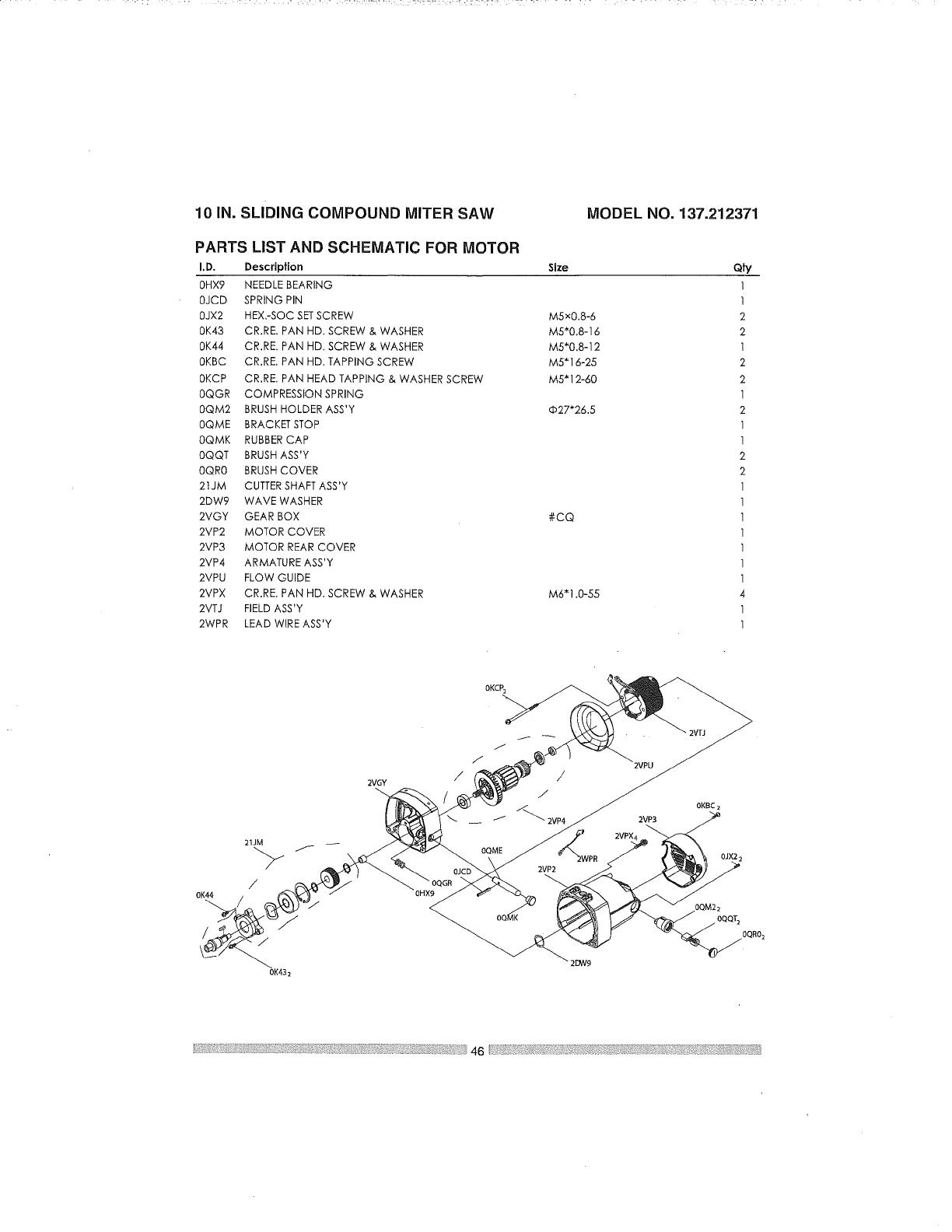 Craftsman 137212371 User Manual MITER SAW Manuals And