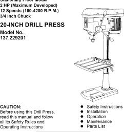 craftsman 137229200 user manual 20 drill press manuals and guides l0803566 [ 921 x 1446 Pixel ]