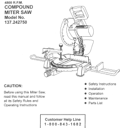 craftsman compound miter saw wiring diagram [ 1029 x 1677 Pixel ]
