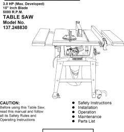 craftsman 137248830 user manual 10 table saw manuals and guides l0606545 wiring diagram for craftsman table saw 137 248830 [ 985 x 1440 Pixel ]