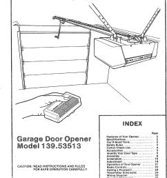 craftsman 13953513 user manual sears electronic garage door opener manuals and guides l0710018 [ 1141 x 1576 Pixel ]