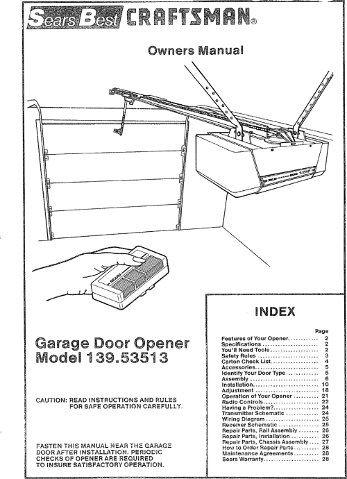 small resolution of craftsman 13953513 user manual sears electronic garage door opener manuals and guides l0710018