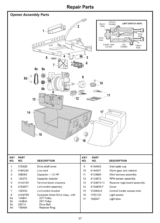 Craftsman 13953663SRT User Manual 1/2 HP GARAGE DOOR OPNER