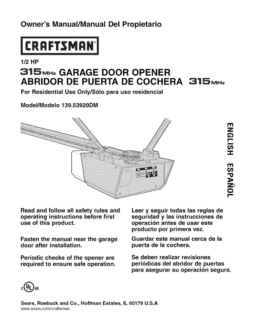 Craftsman 1 2 Hp Garage Door Wiring Diagram