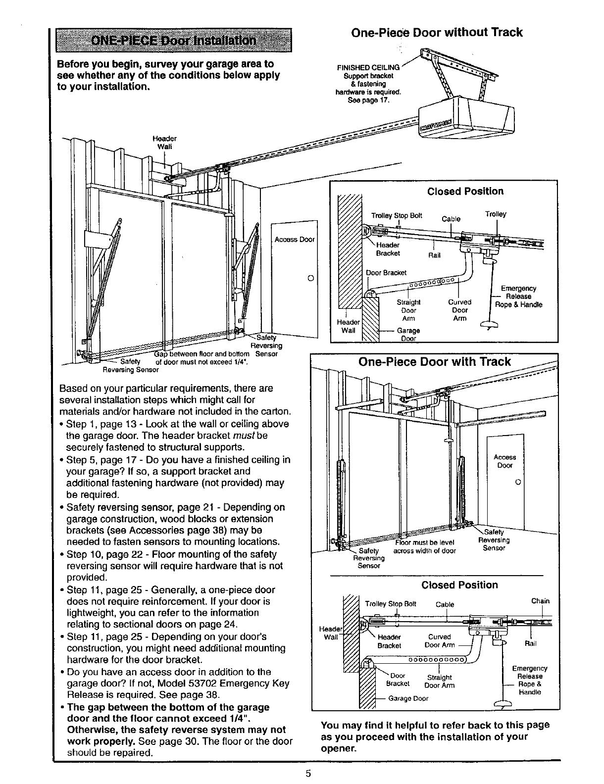 Craftsman 13953962SRT User Manual GARAGE DOOR OPENER