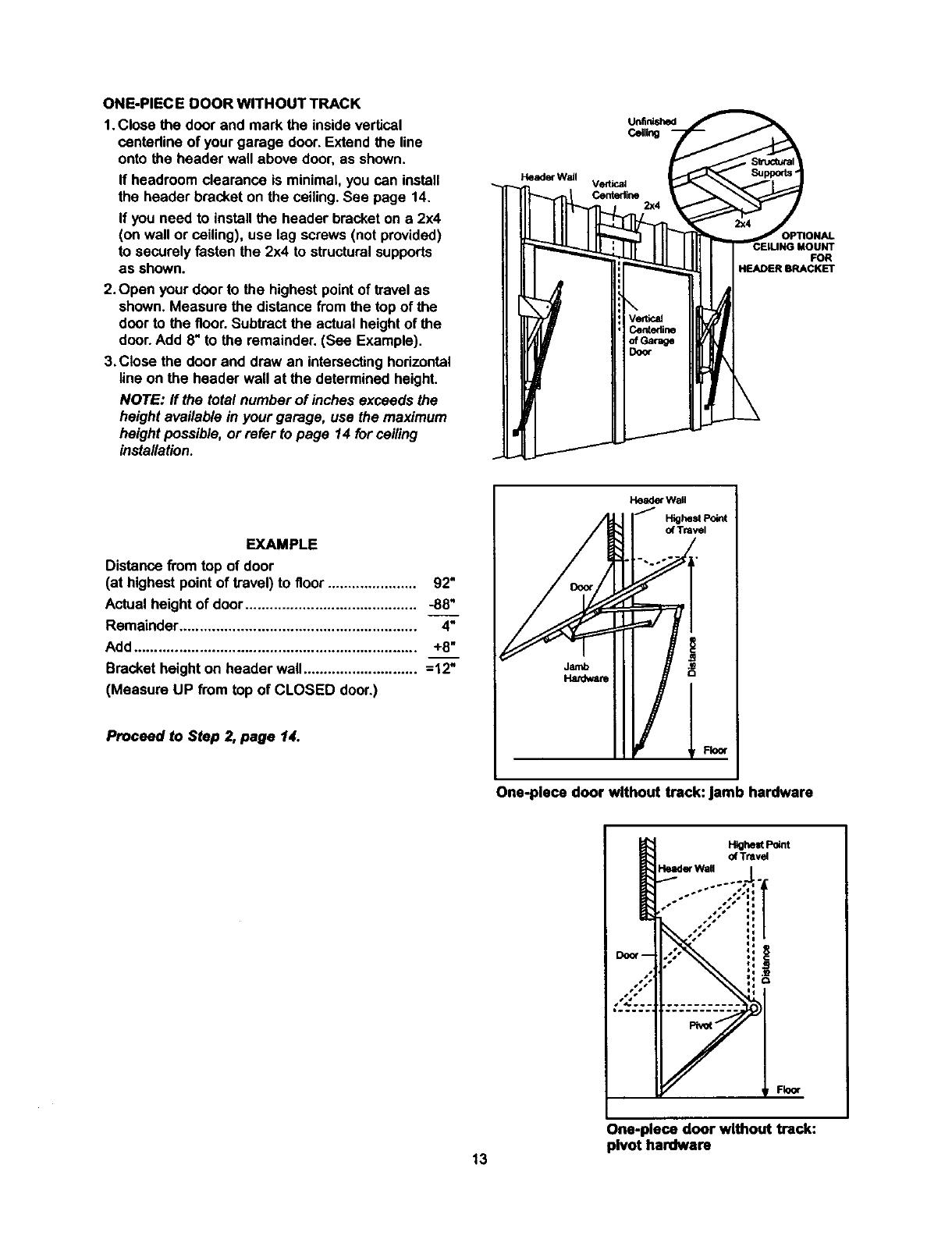 Craftsman 13953990SRT User Manual GARAGE DOOR OPENER