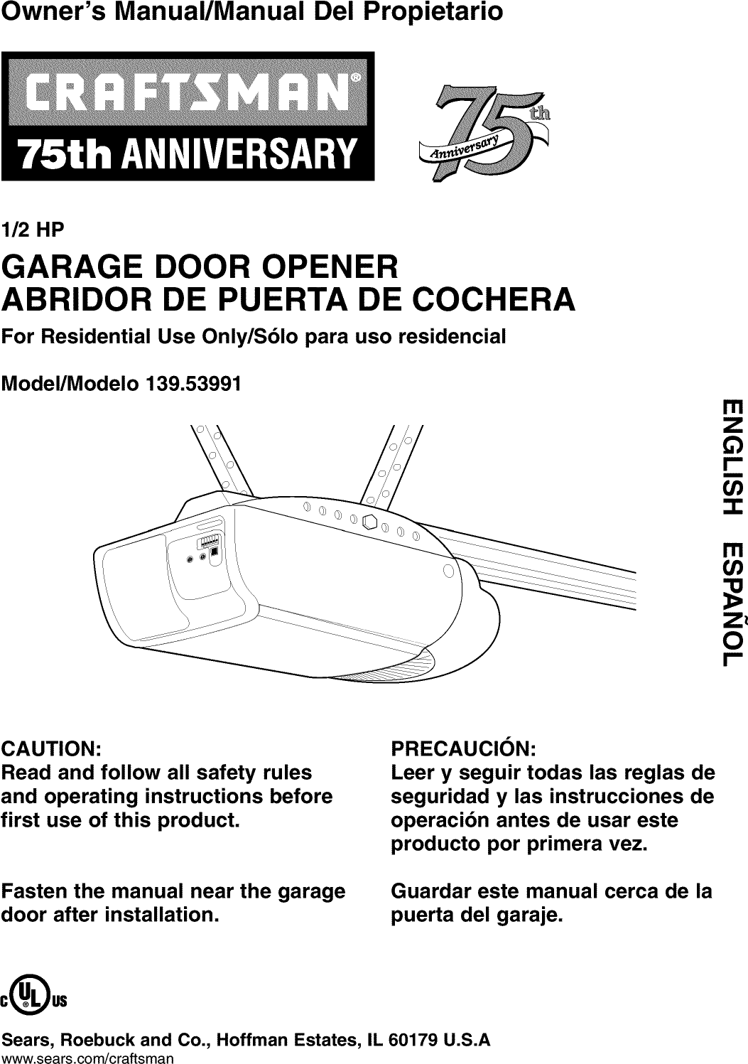 41a4315 7d Craftsman Garage Door Opener Manual Pdf