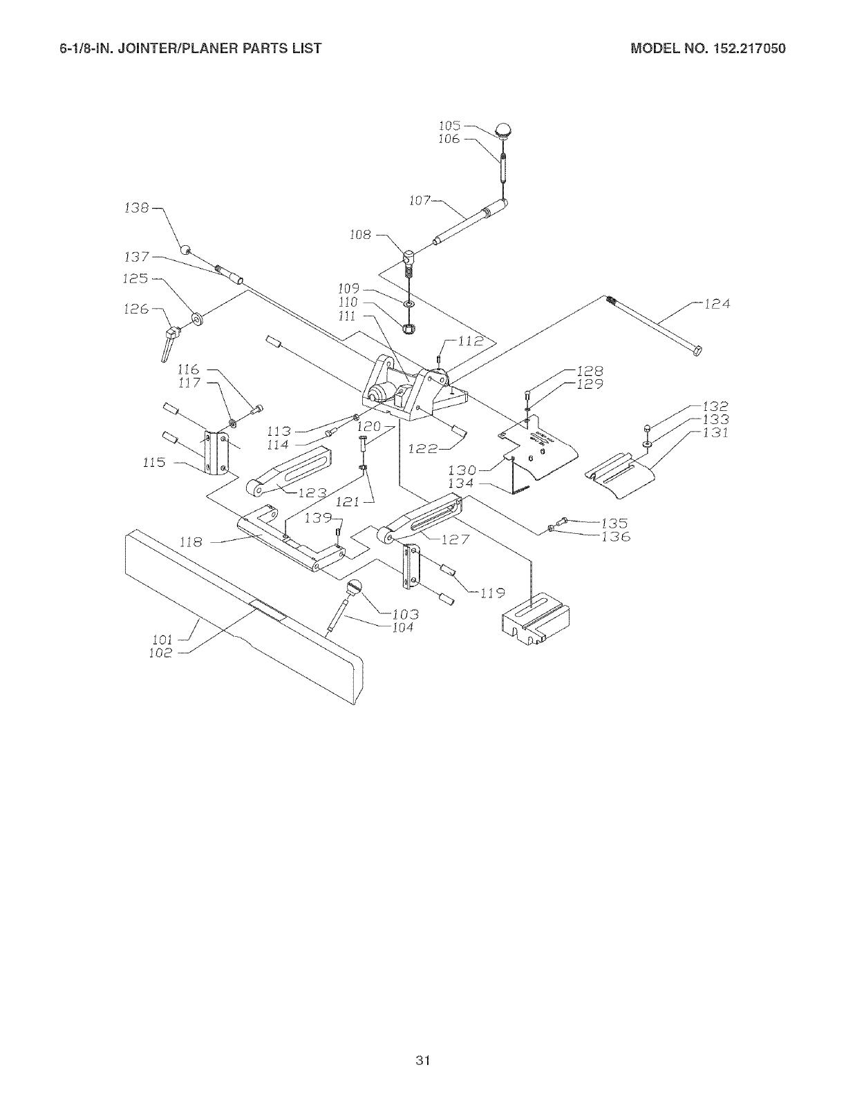 Craftsman 152217050 User Manual JOINTER/PLANER Manuals And