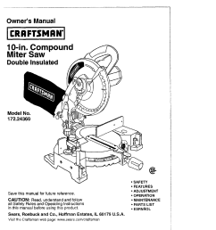 craftsman 17224360 user manual 10 compound miter saw manuals and guides l0408143 [ 1220 x 1584 Pixel ]