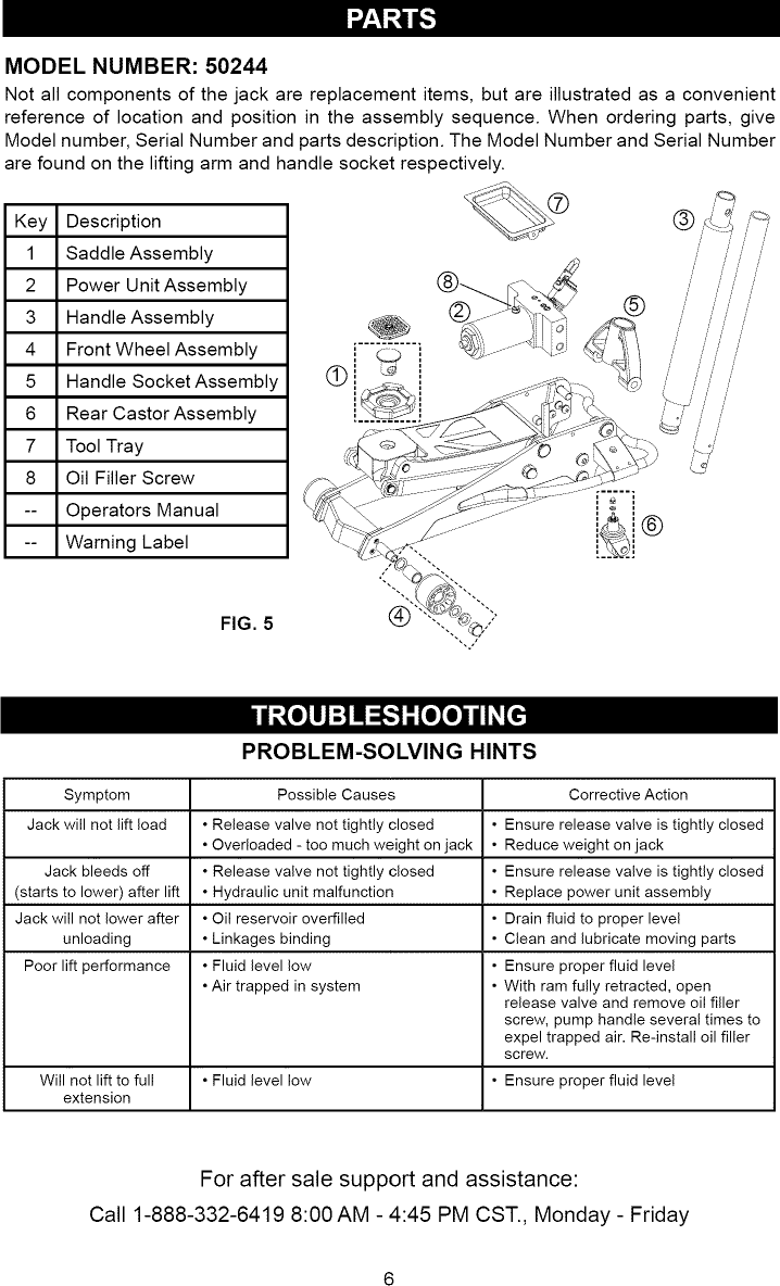 Craftsman Floor Jack Parts : craftsman, floor, parts, Craftsman, 21450244, L1002158, Manual, FLOOR, Manuals, Guides