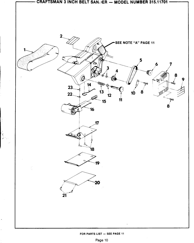 Craftsman 31511701 1010187L User Manual 3 INCH BELT SANDER