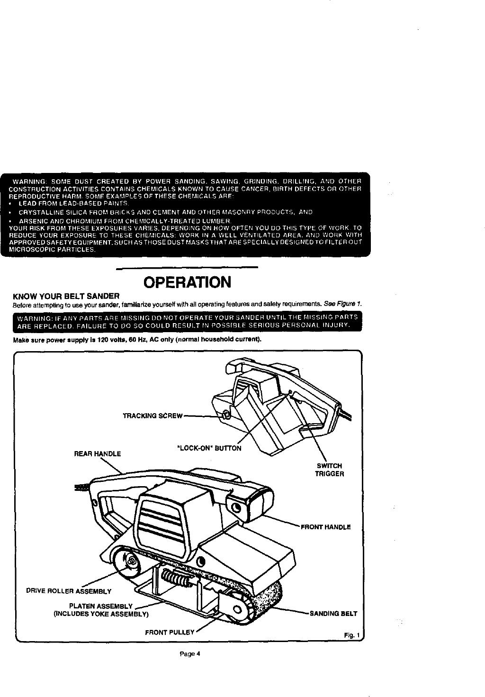 Craftsman 315117120 User Manual 3 BELT SANDER Manuals And