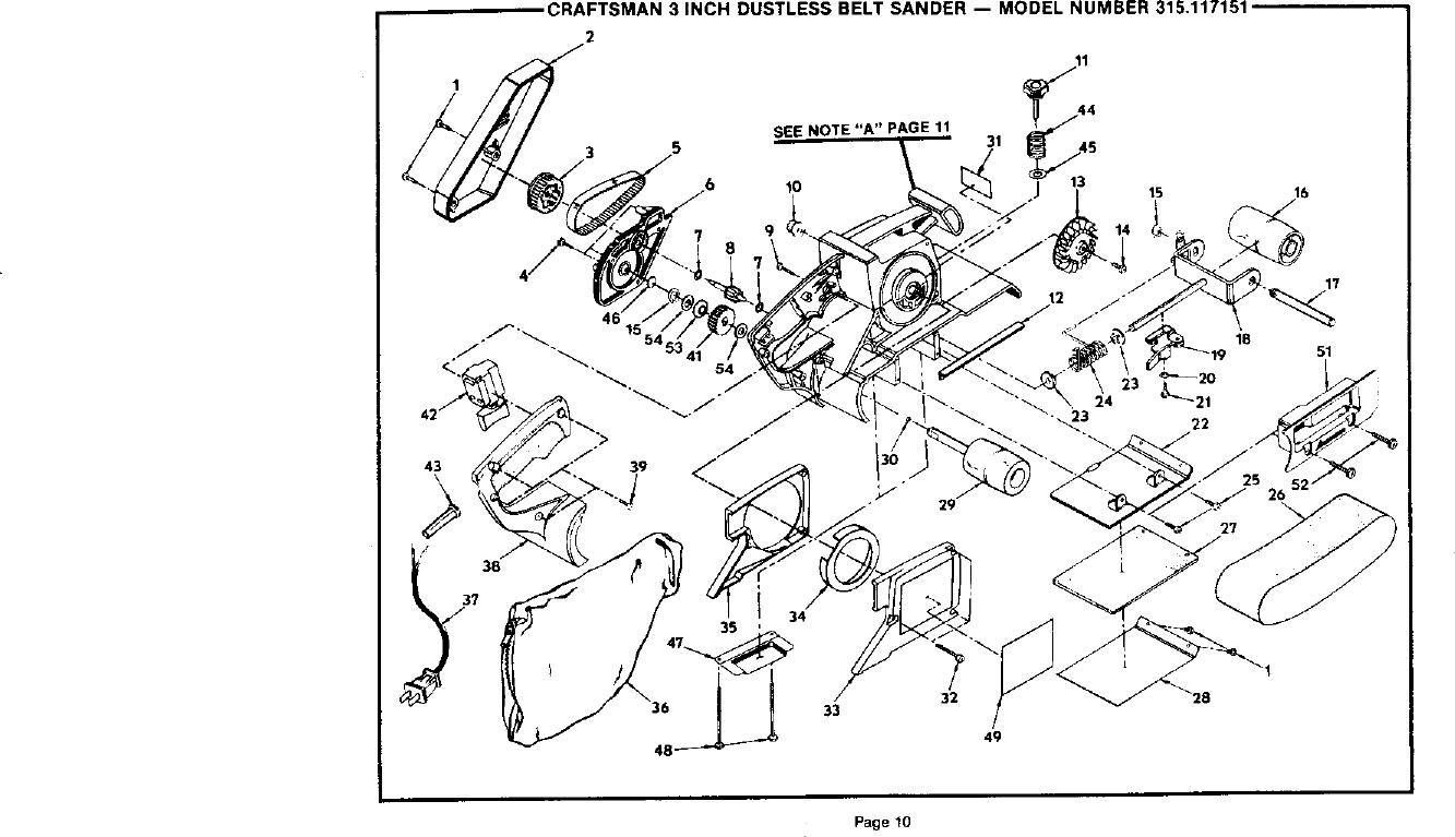 Craftsman 315117151 User Manual 3 INCH DUSTLESS BELT