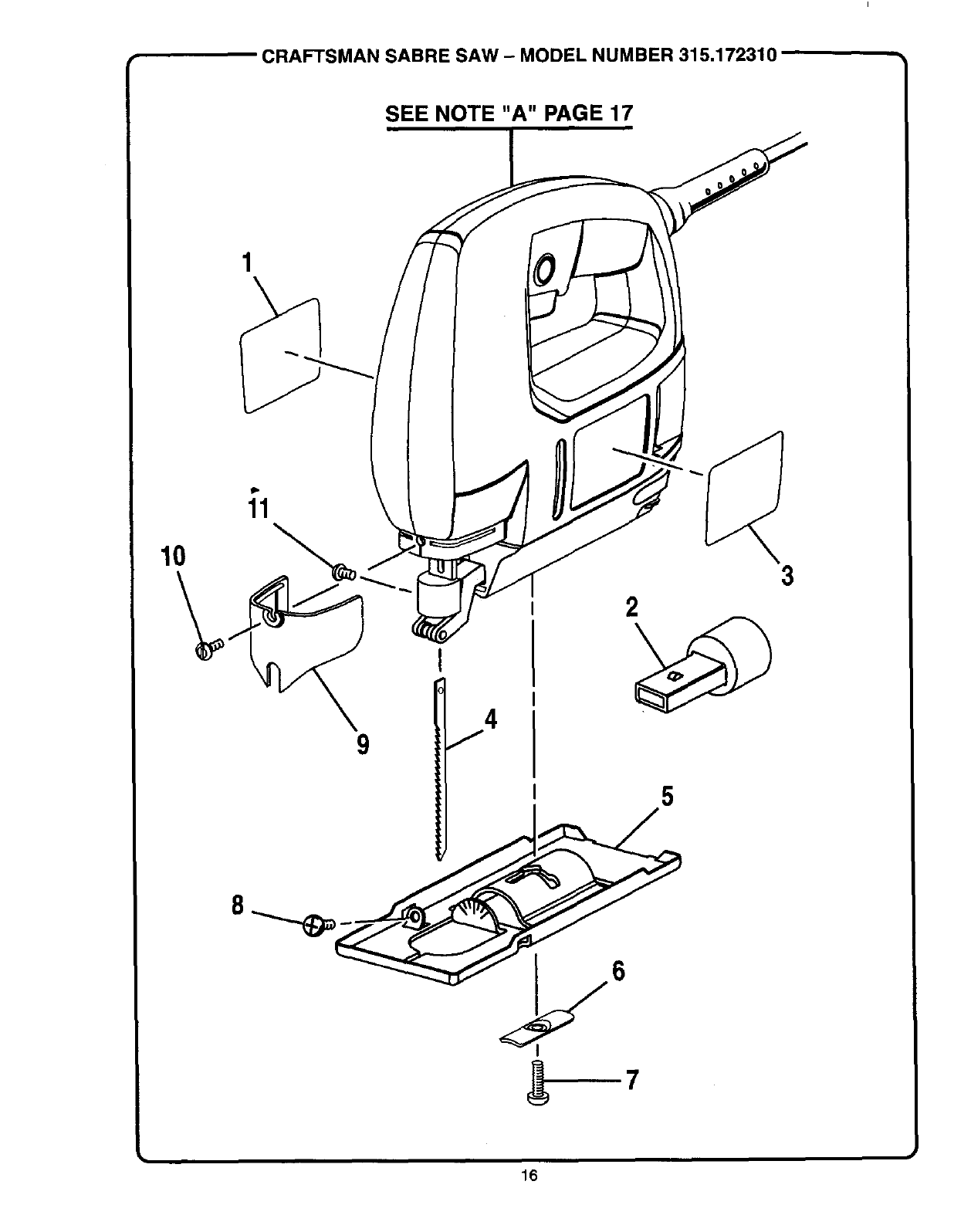 Craftsman 315172310 User Manual VARIABLE SPEED SABRE SAW