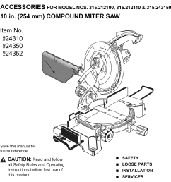 craftsman 315212110 user manual 10 compound miter saw manuals and guides l1001368 [ 1022 x 1460 Pixel ]