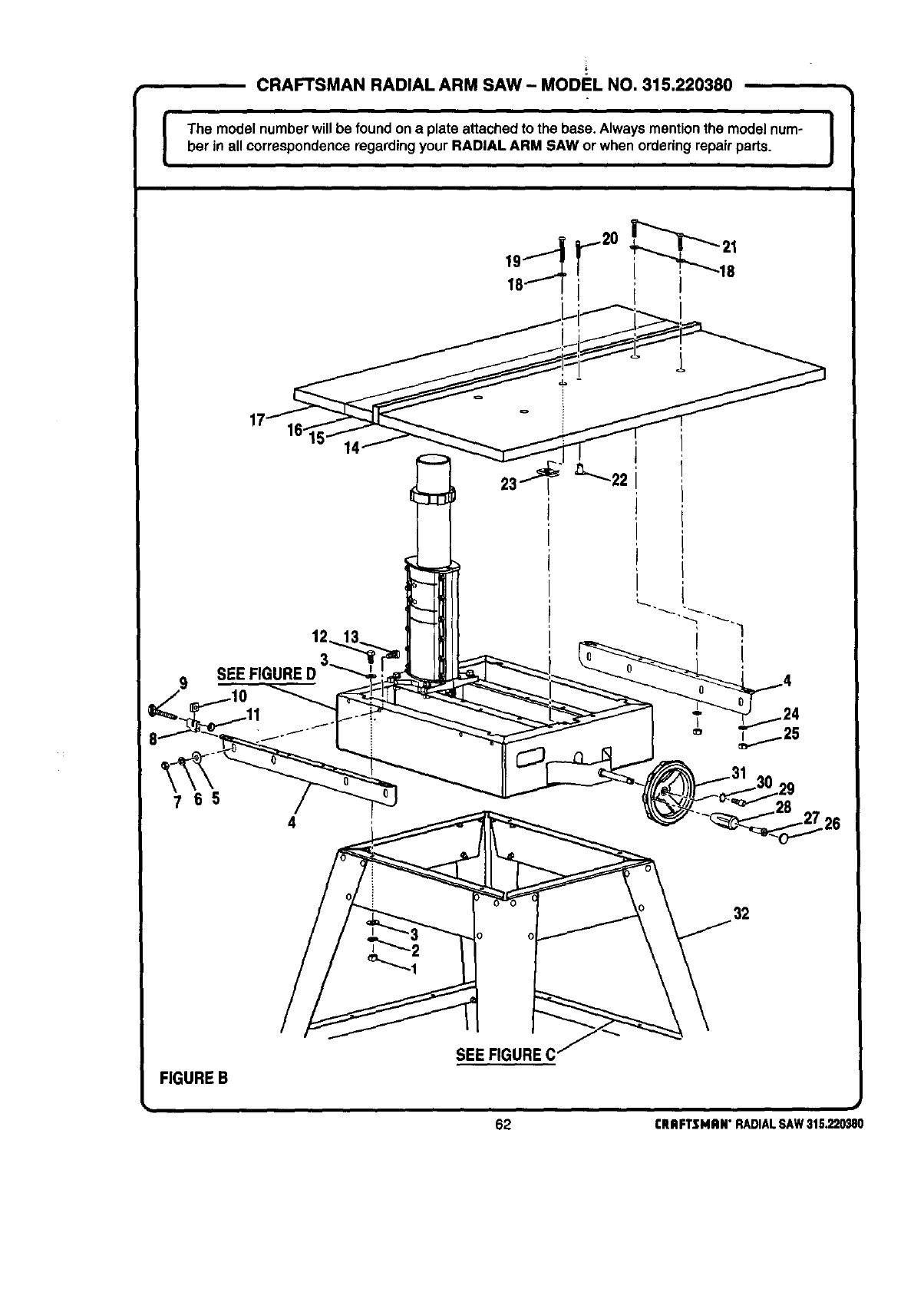 Craftsman 315220380 User Manual 10 IN. STATIONARY RADIAL