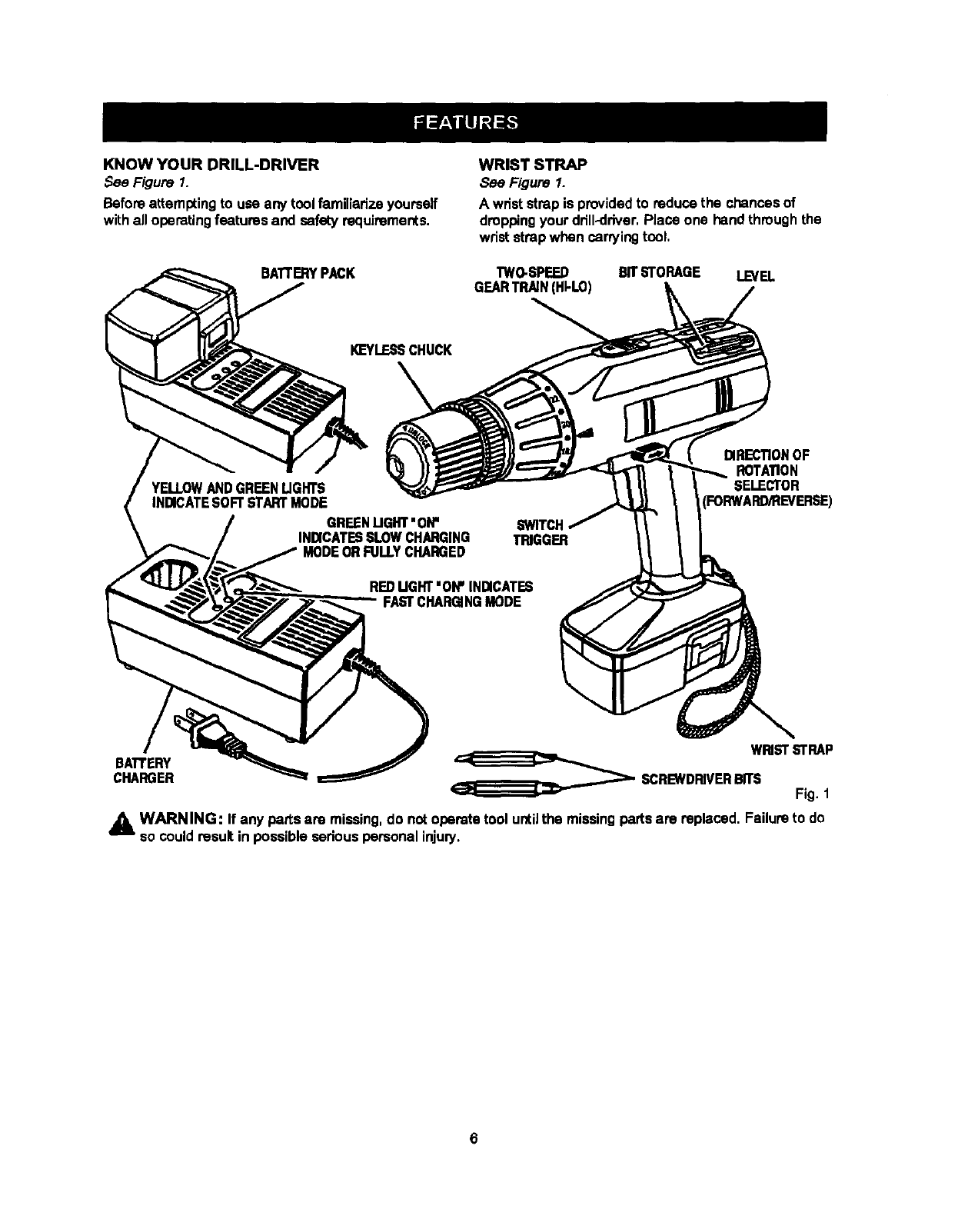 Craftsman 315222560 User Manual CORDLESS DRILL DRIVER
