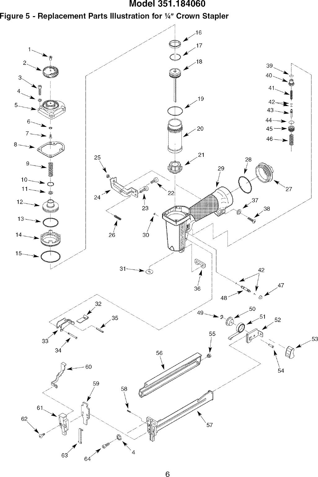 Craftsman 351184060 User Manual CROWN STAPLER Manuals And