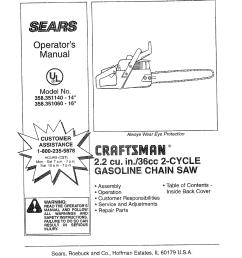craftsman chainsaw engine diagram [ 1244 x 1584 Pixel ]