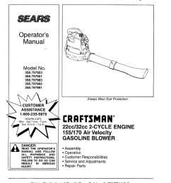 craftsman 358797923 user manual leaf blower manuals and guides l0805054 craftsman leaf blower wiring diagram [ 1244 x 1584 Pixel ]