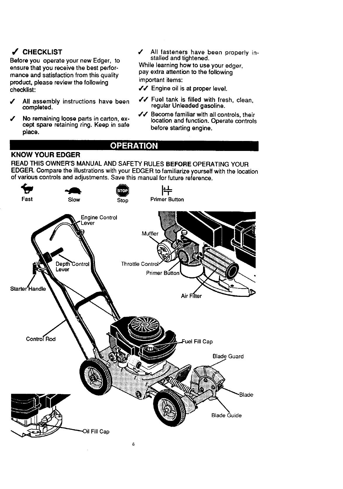 Craftsman 536797460 User Manual 3.5 HP 9 EDGER Manuals And