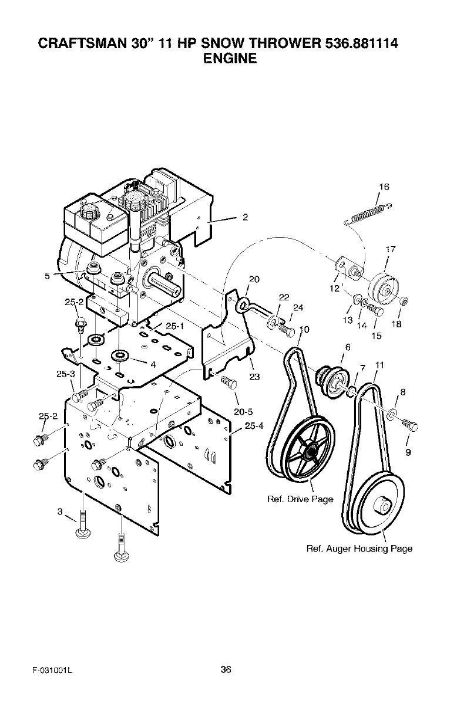 Craftsman 536881114 User Manual 30 11 HP SNOWTHROWER