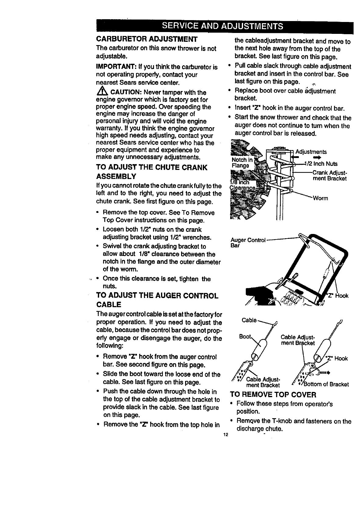 Craftsman 536884582 User Manual 3.0 HP ELECTRIC START SNOW