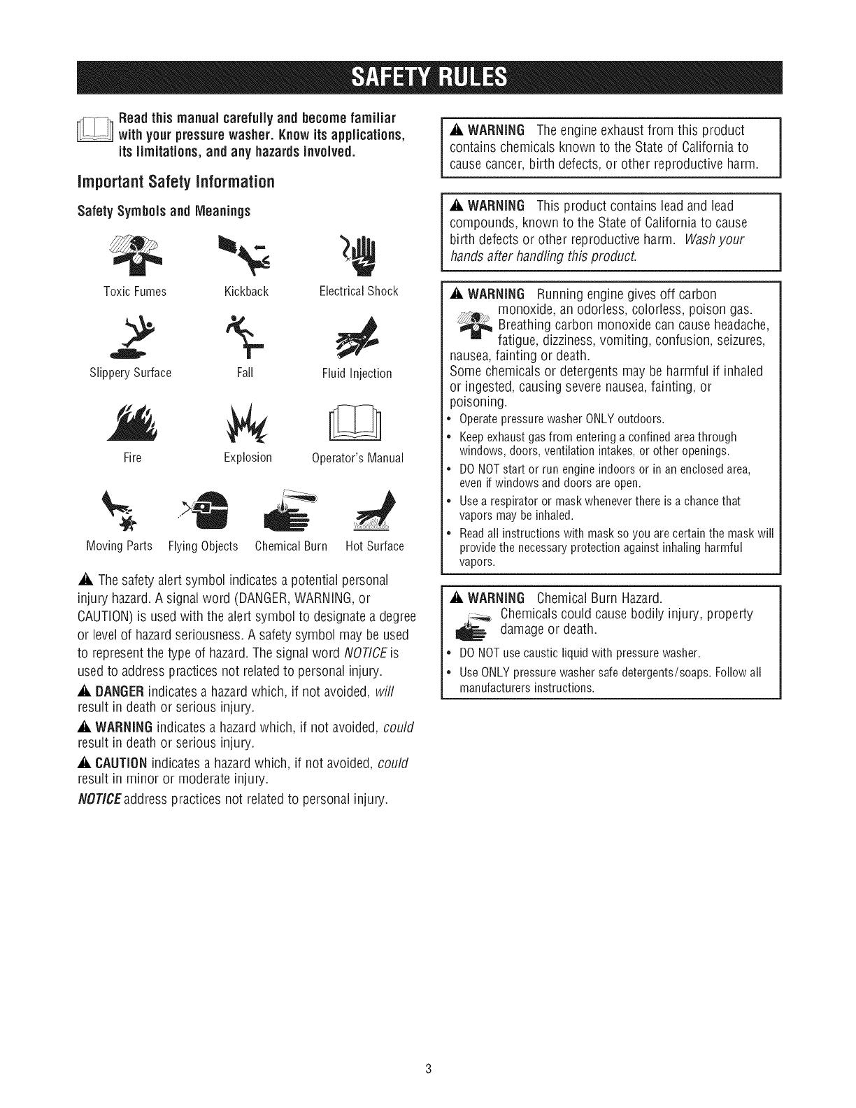 Craftsman 580752531 User Manual PRESSURE WASHER Manuals