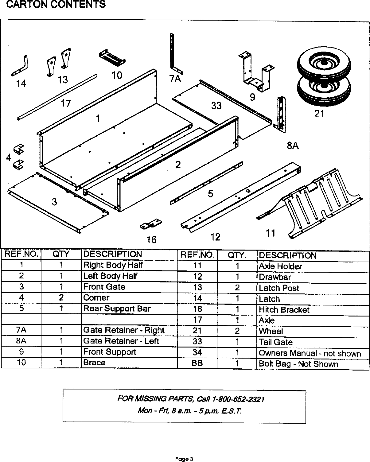 Craftsman 610243551 User Manual DUMP CART Manuals And