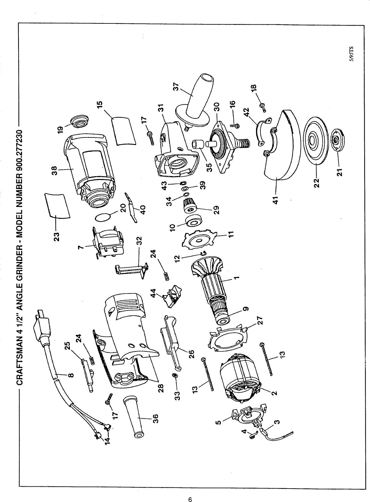 Craftsman 900277230 User Manual ANGLE GRINDER Manuals And