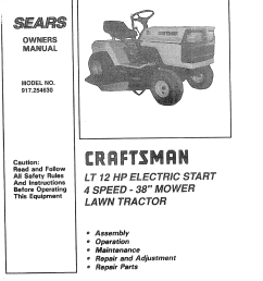 youtube on wheel horse craftsman 917254630 user manual 12 h p 38 riding lawn tractor on wheel horse  [ 1244 x 1584 Pixel ]