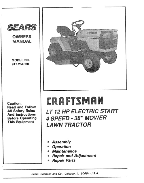 small resolution of youtube on wheel horse craftsman 917254630 user manual 12 h p 38 riding lawn tractor on wheel horse