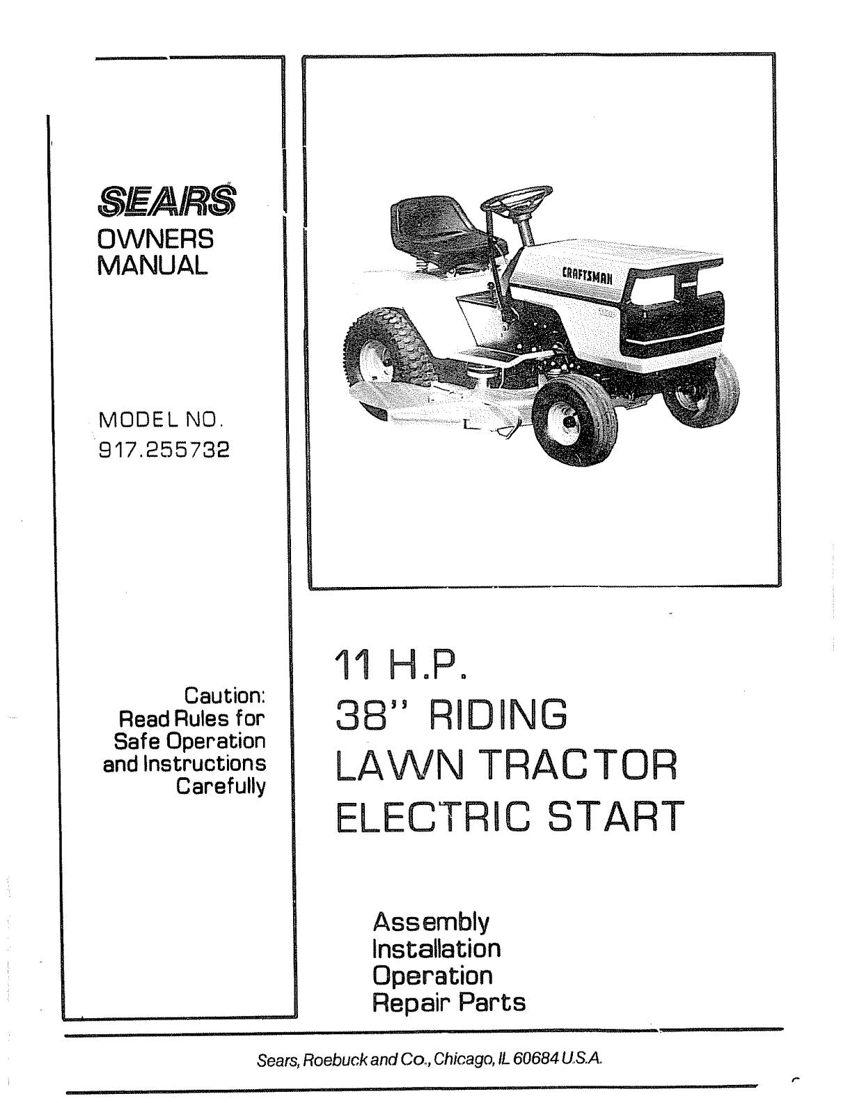 Wiring Diagram Craftsman Mower 11hp