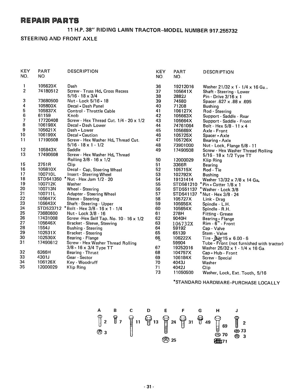 Craftsman 917255732 User Manual 11 H.P. 38 INCH RIDING