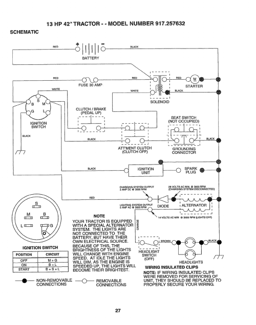 small resolution of lawn mower battery charging system diagram