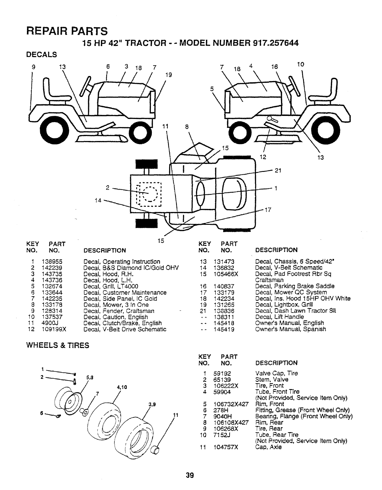 Craftsman 917257644 User Manual TRACTOR Manuals And Guides