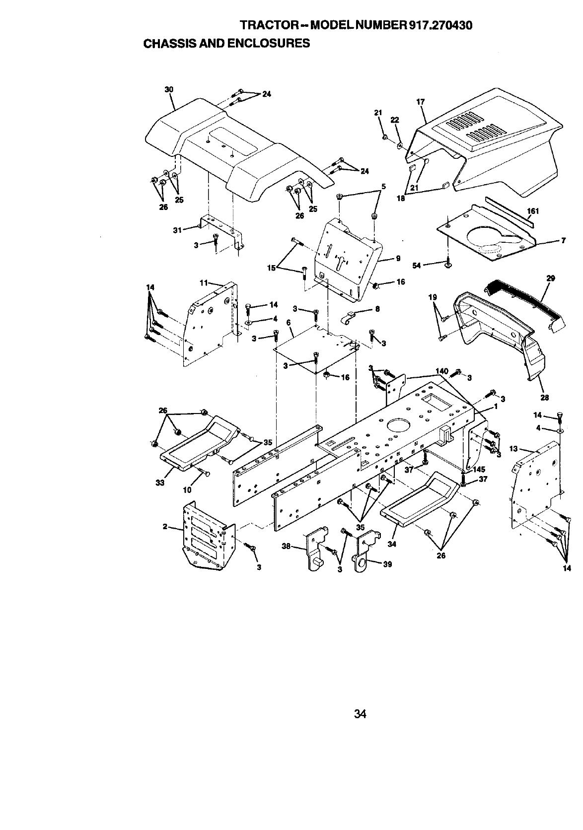 Craftsman 917270430 User Manual 13.5 HP 38 MOWER 5SPD LAWN