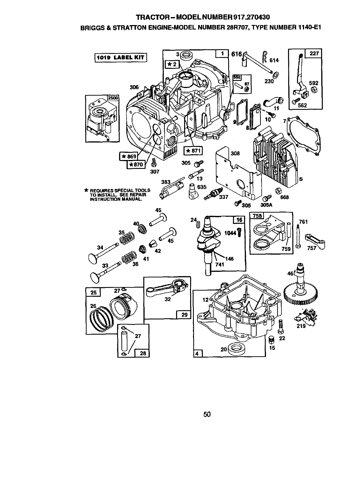 Craftsman 917270430 User Manual 13.5 HP 38 MOWER 5SPD LAWN