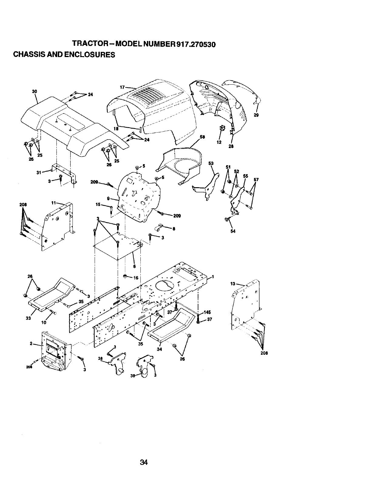 Craftsman 917270530 User Manual 14.5HP 42 MOWER LAWN