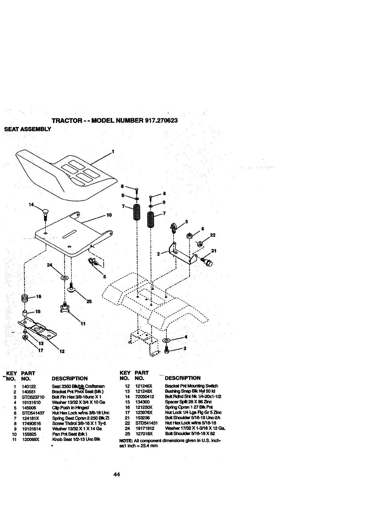 Craftsman 917270623 User Manual ELECTRIC START 42